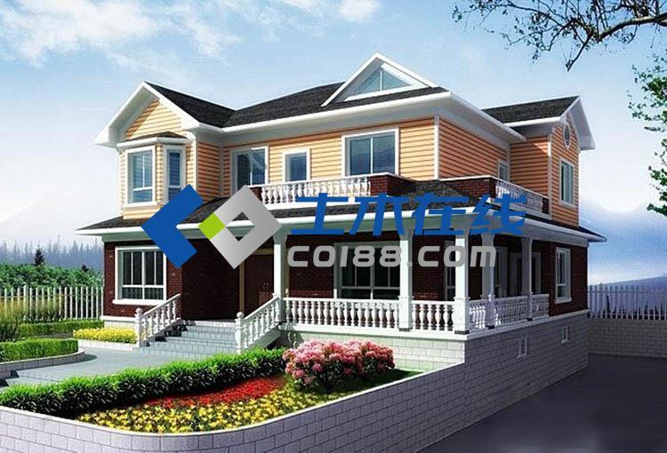 农村二层欧式别墅房设计图12.6x10.5m 一层平面房屋设计图-占地224图片
