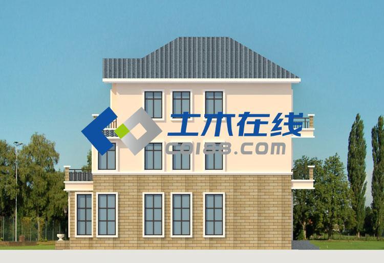 层别墅设计图及效果图购买 土木在线高清图片