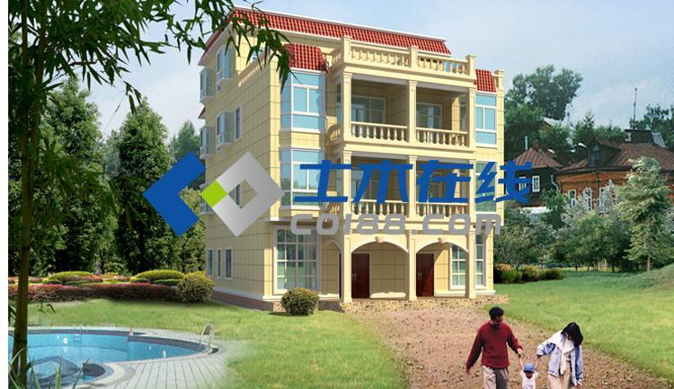 地694平方米四层双拼别墅设计图购买 土木在线