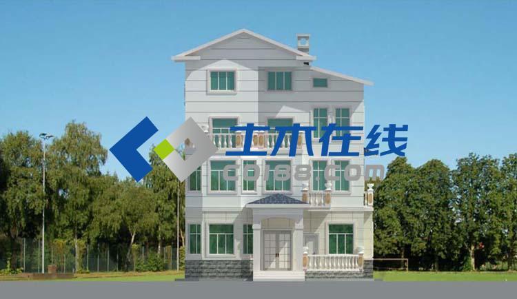 图纸 建筑图纸  别墅图纸  纸质别墅图纸  农村街道90平方米三层带