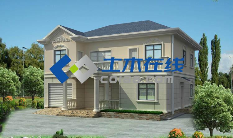 占地312平方米带车库二层小别墅设计图