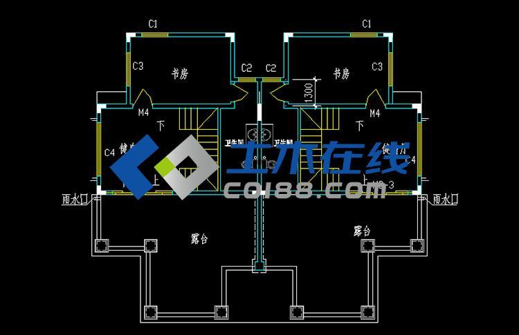编号: q60191     层数: 三层双拼     结构形式: 框架结构     主体