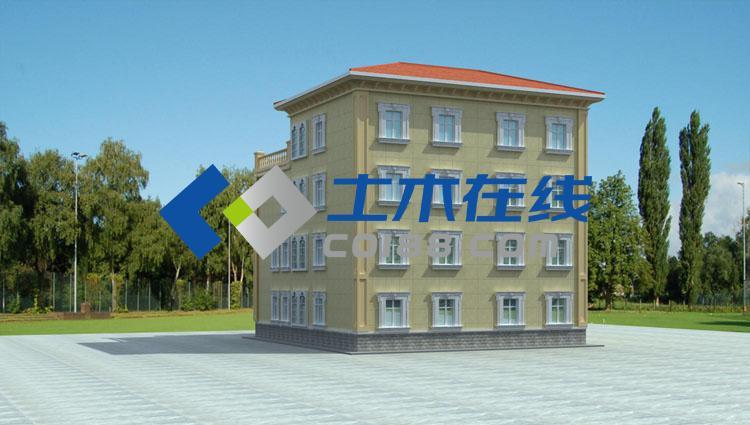 占地661平方米五层框架结构别墅设计图