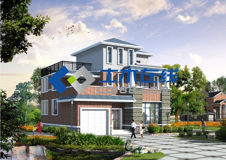 6平方米三层框架结构别墅施工图