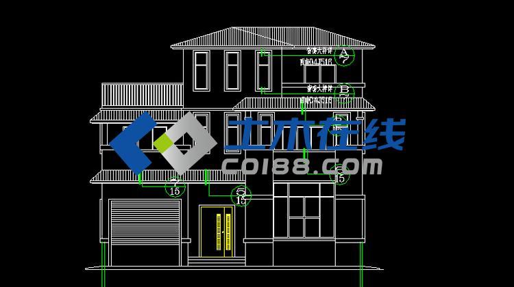 结构别墅施工图
