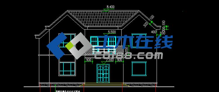 二层房屋设计建筑施工图纸
