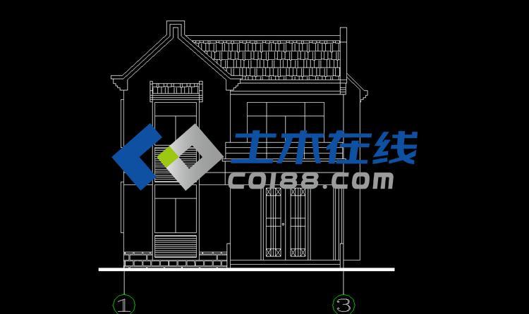独栋仿古江南风格二层农村房屋
