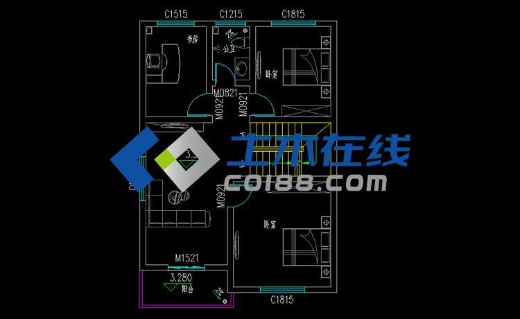 占地320㎡二层住宅改造设计图纸(含建筑水电施工图)