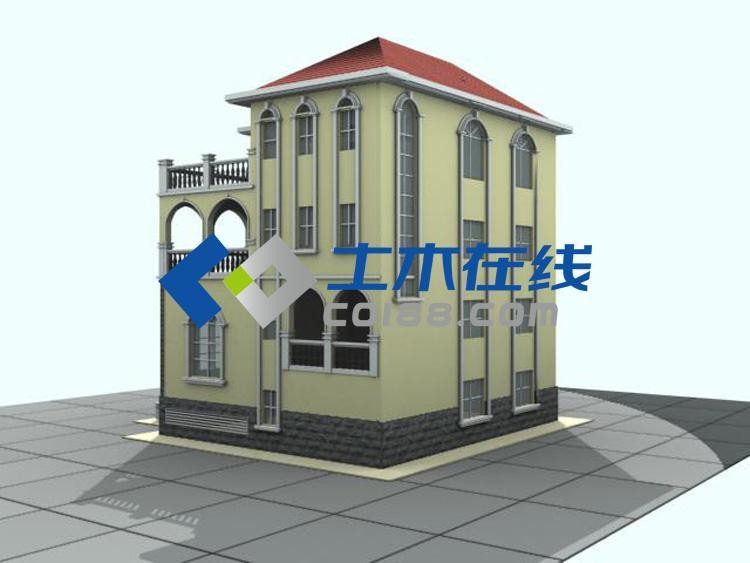 占地542平方米私人三层别墅设计图       图纸属性     编号:d60078