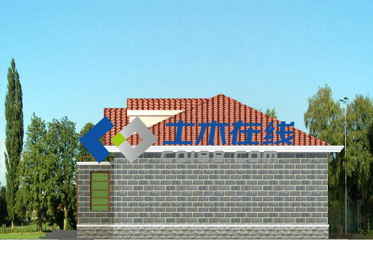 坡顶农村住宅设计图   图纸属性  编号: d130115  层数: 一层  结构