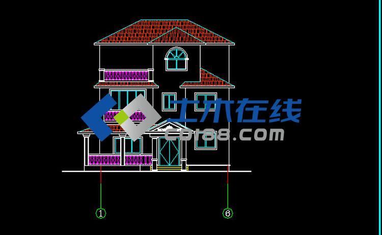 占地324㎡三层别墅设计图带施工图