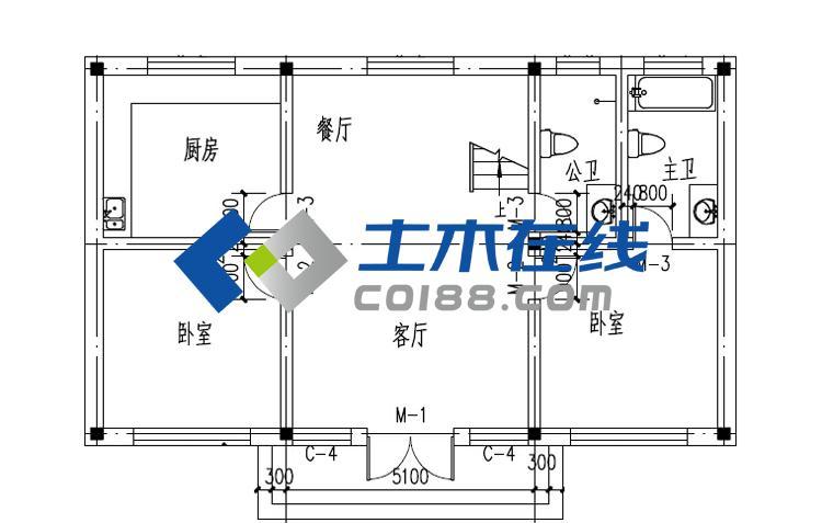 砖混结构别墅设计图