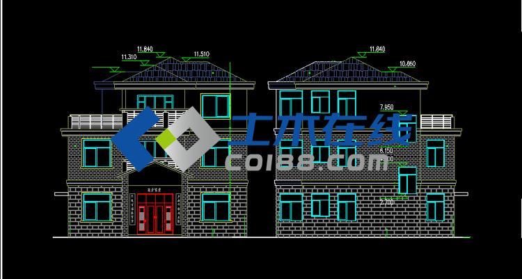 房屋设计立面图
