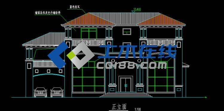 农村盖房三层别墅图纸设计图及效果图