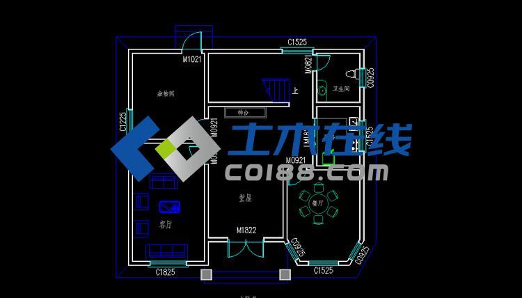 占地120平米三层半框架结构别墅设计图