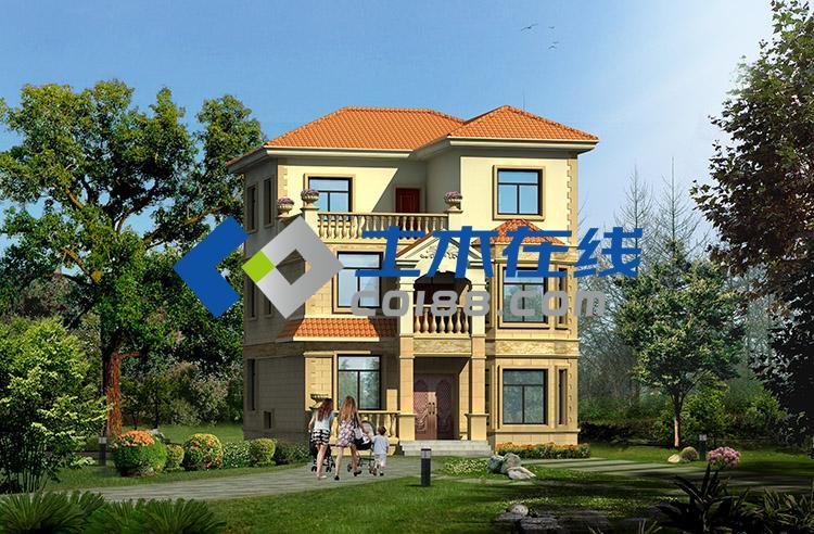 占地253平方米广东湛江农村别墅全套施工图带效果图图片