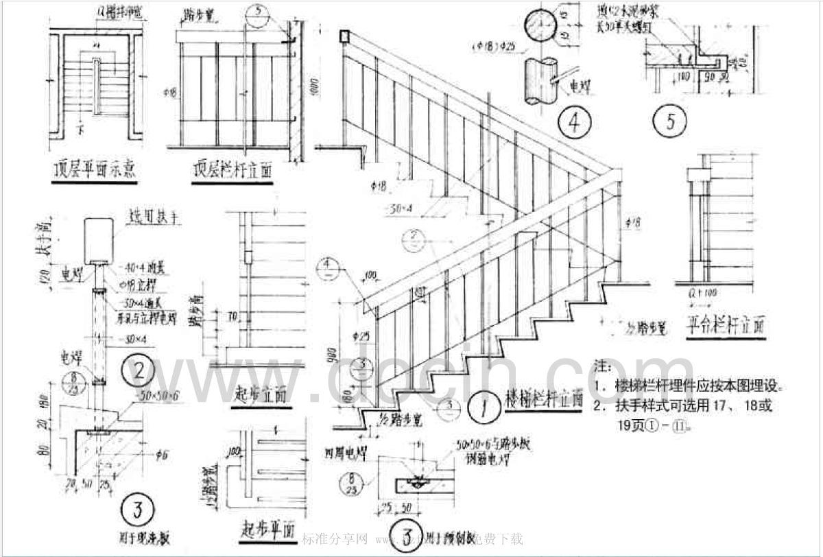 日本建筑囹�a_88zj401 楼梯栏杆-地方建筑标准设计图集规范寤虹瓒,锲鹃泦,88zj,妤兼
