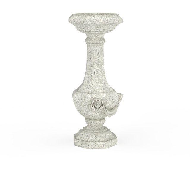 欧式喷泉柱子3d模型下载