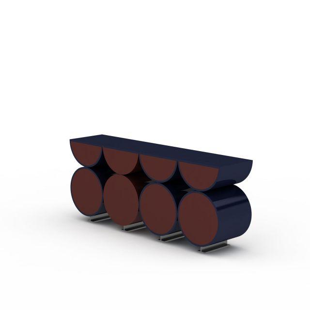 现代创意圆形柜子3D模型下载-图1