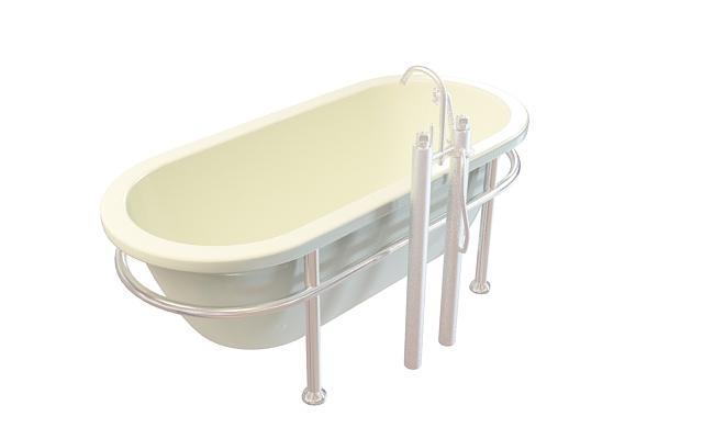 U形浴缸3D模型下载-图1