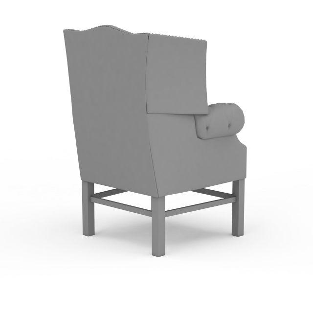 欧式座椅3d模型下载-图3