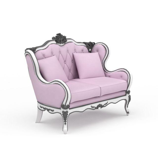 欧式沙发3d模型下载-图1