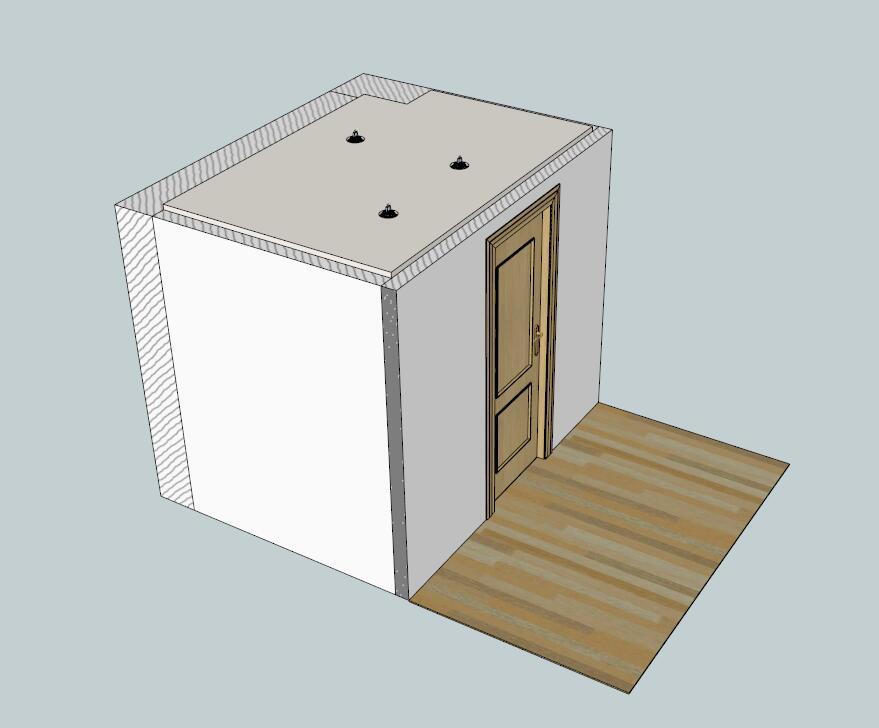 现代家装室内浴室间模型-图1