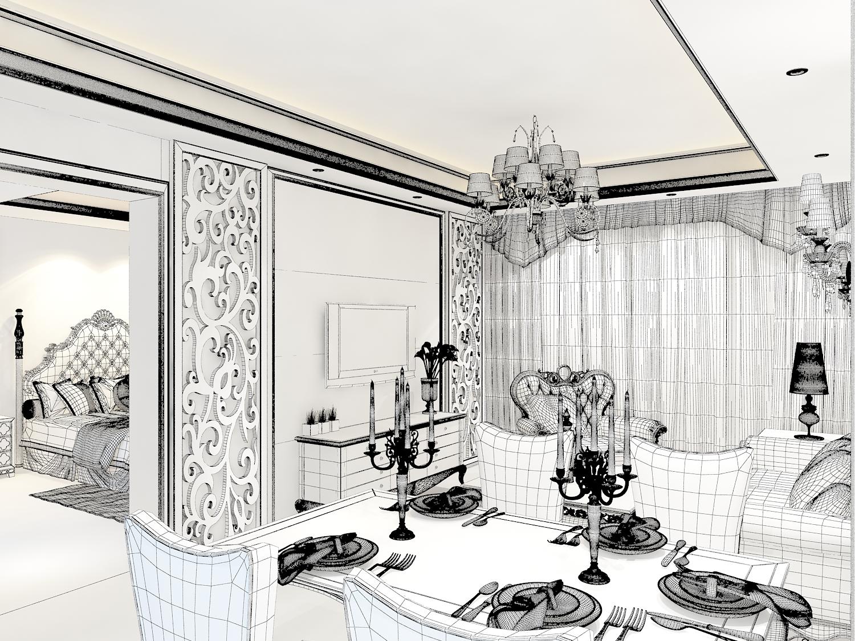 欧式酒店室内装修卫生间3d模型下载