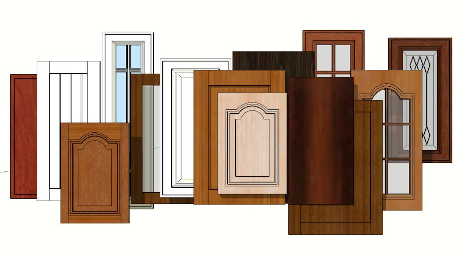 多个现代流行款厨房门模型-图1