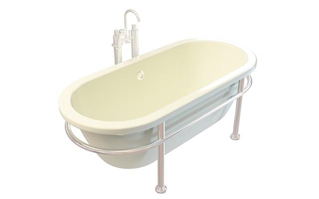 U形浴缸3D模型下载-图3