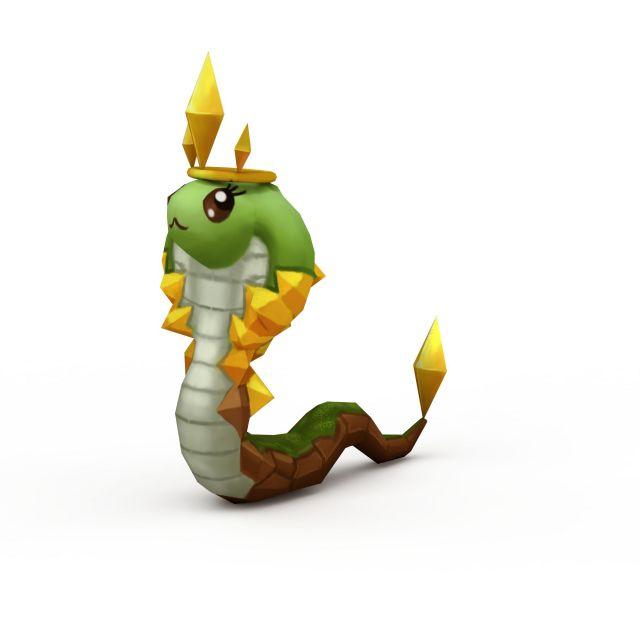 十二生肖蛇3d模型下载