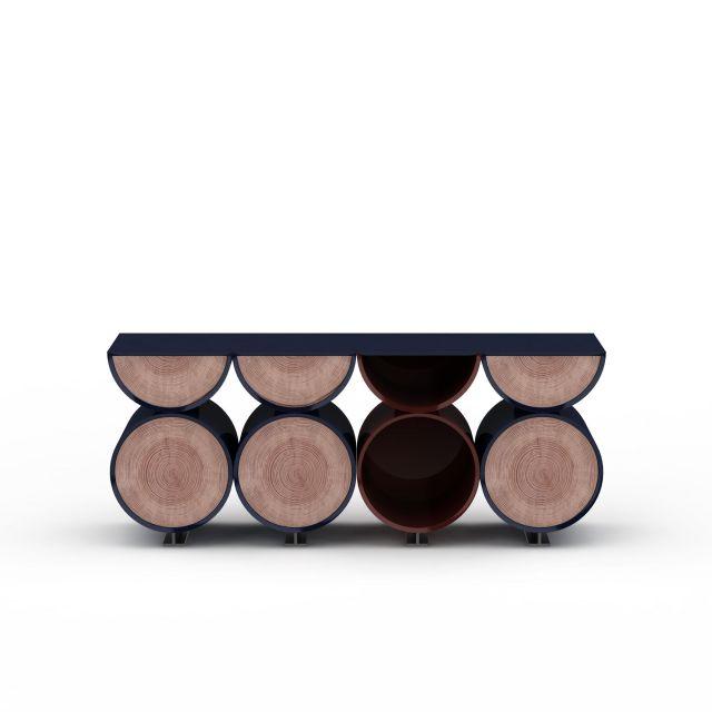 现代创意圆形柜子3D模型下载-图2