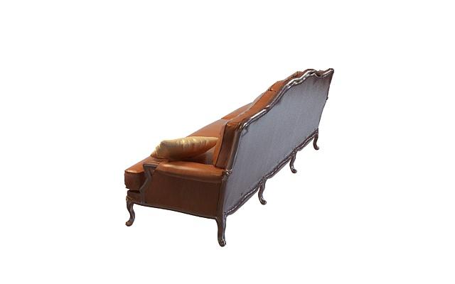欧式皮革沙发3d模型下载-图2