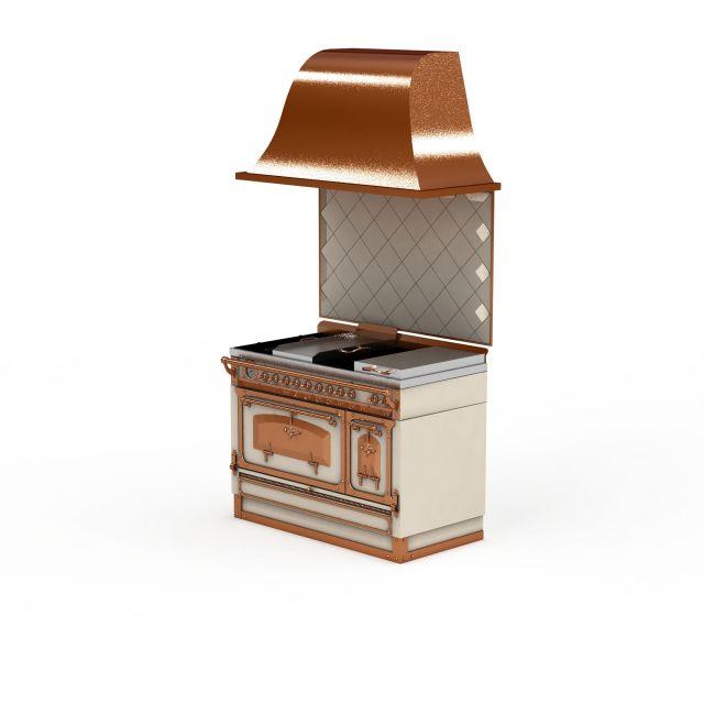 欧式厨房灶3d模型下载