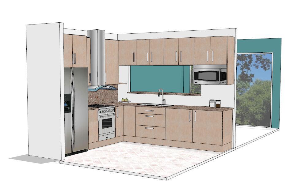 现代时尚厨房橱柜设计模型-图1