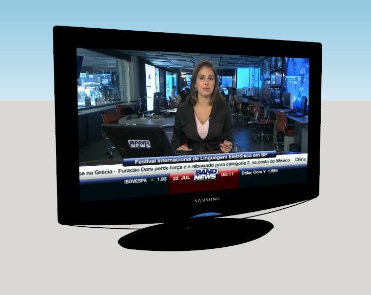 现代家装电视机模型-图1