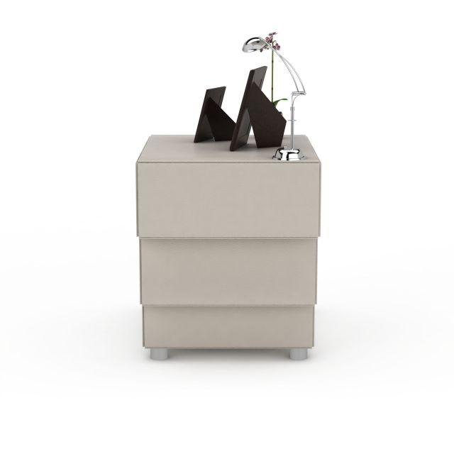 中式创意阶梯床头柜3D模型下载-图1