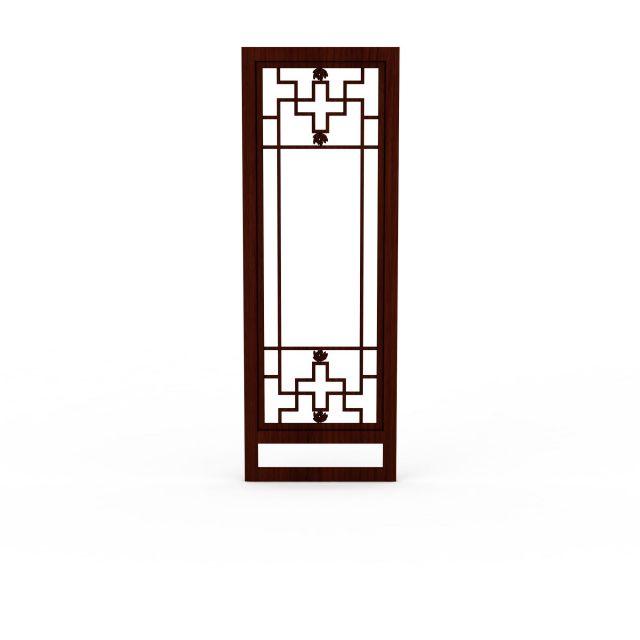 中式古典木质窗户3d模型下载 - 窗户素材,模型下载