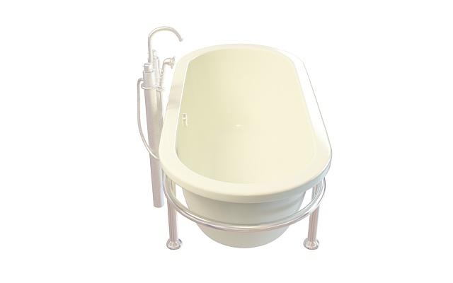 U形浴缸3D模型下载-图2