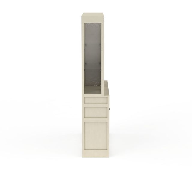 现代书房简易双开门柜子储物柜3D模型下载-图2