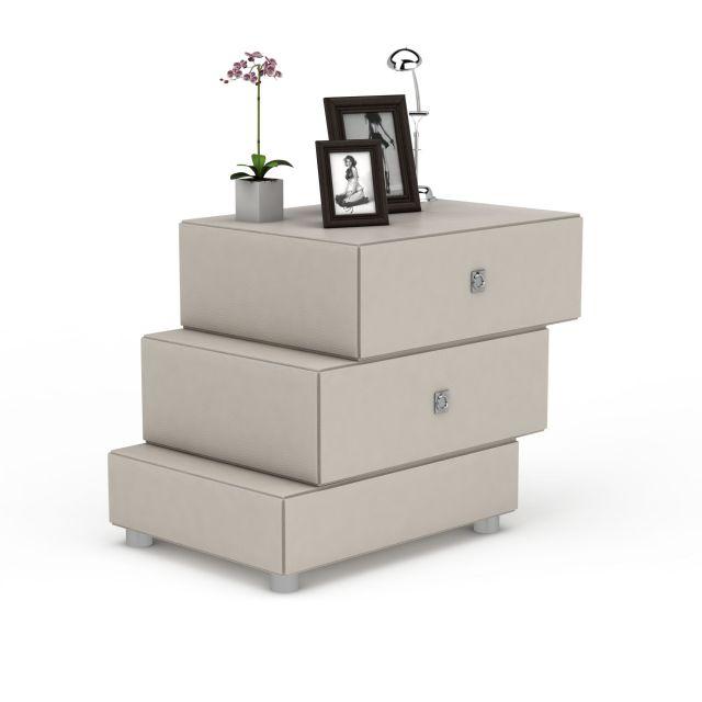 中式创意阶梯床头柜3D模型下载-图2