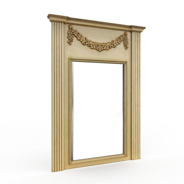 欧式复古窗框3d模型下载