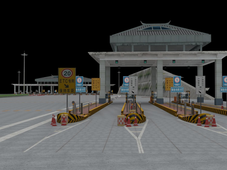 高速公路收费站3D模型下载-图2