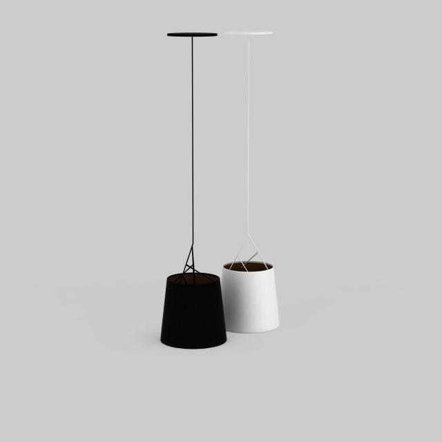圆筒型简约吊灯3d模型下载