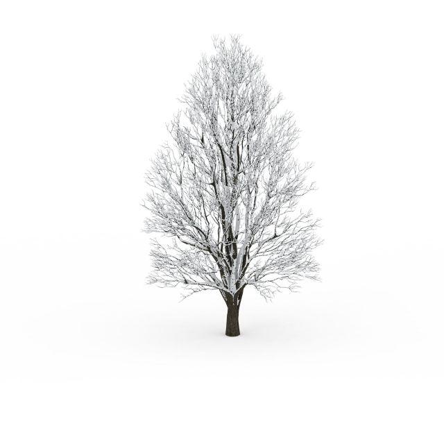 园林景观(园林景观3dmax模型)  三角形挂雪树3d模型下载  三角形挂雪