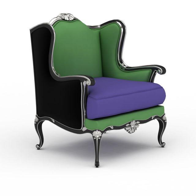 欧式椅子3d模型下载