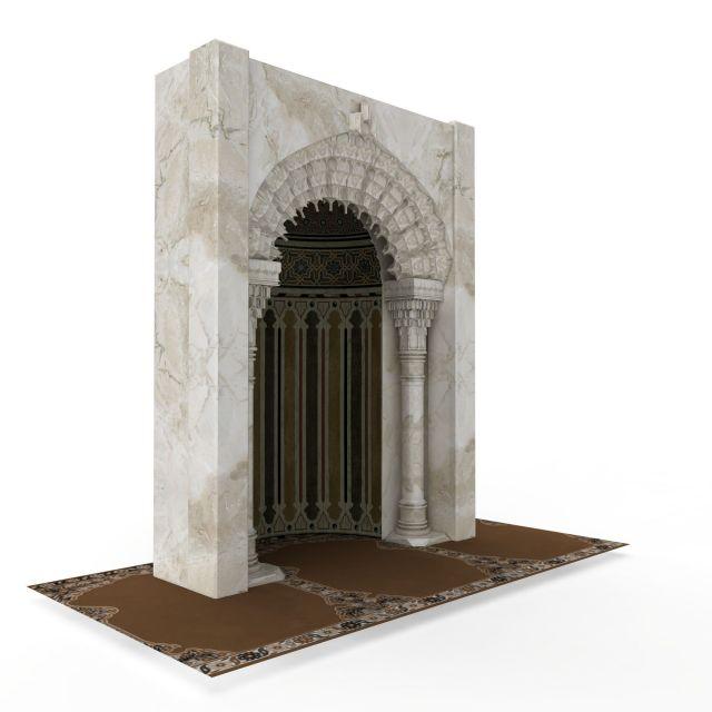 欧式大理石拱门3d模型下载