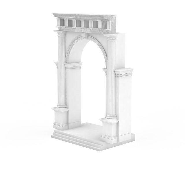 欧式门洞构件3d模型下载