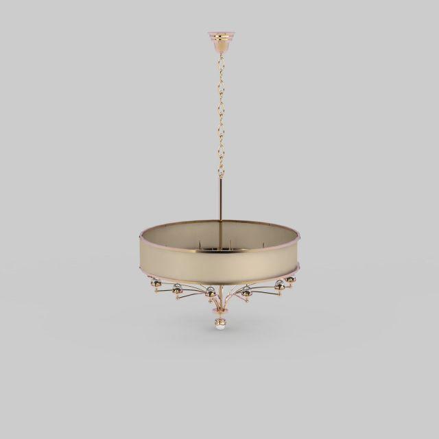 现代圆形吊灯3d模型下载