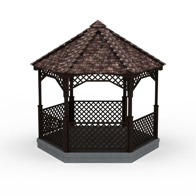 中式凉亭3d模型下载 - 中式凉亭素材,模型下载 - 土木